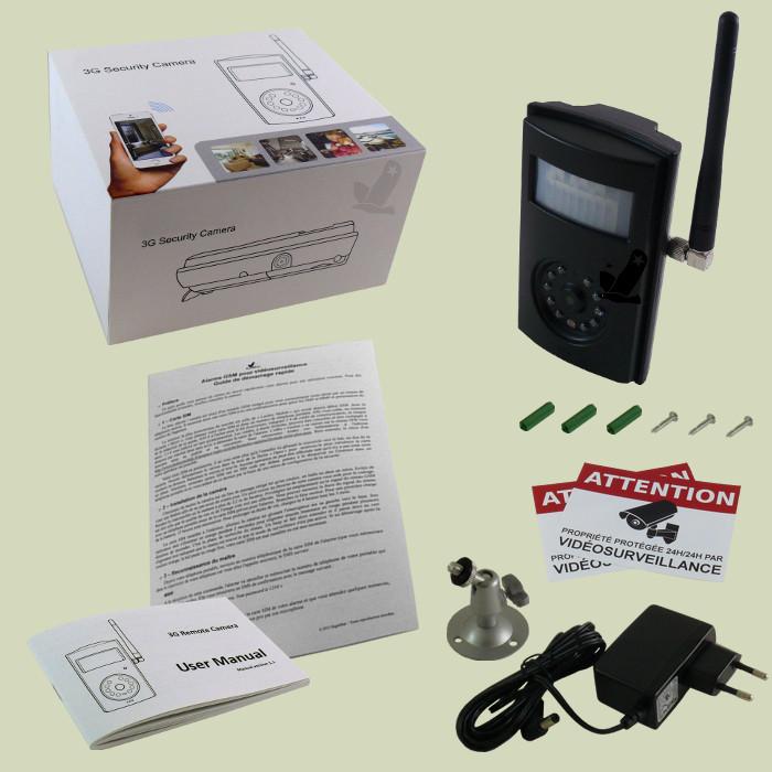 alarme camera gsm video securite videosurveillance mms. Black Bedroom Furniture Sets. Home Design Ideas